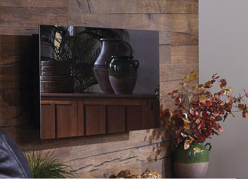 Touchstone Onyx Wall Mount 50 inch Electric Fireplace Mirror off