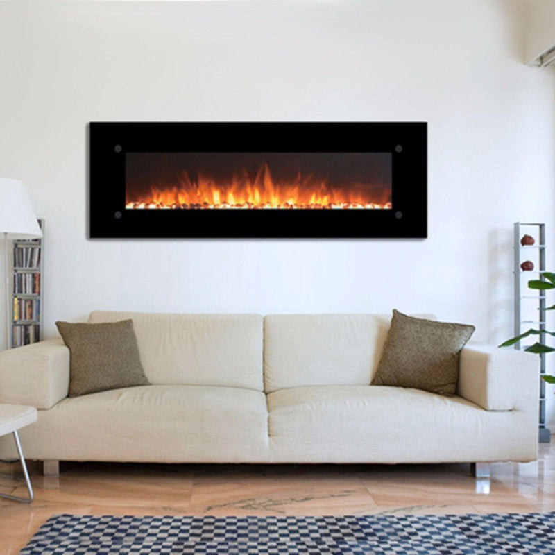 Touchstone Onyx Wall Mount 72 inch Electric Fireplace Black 3