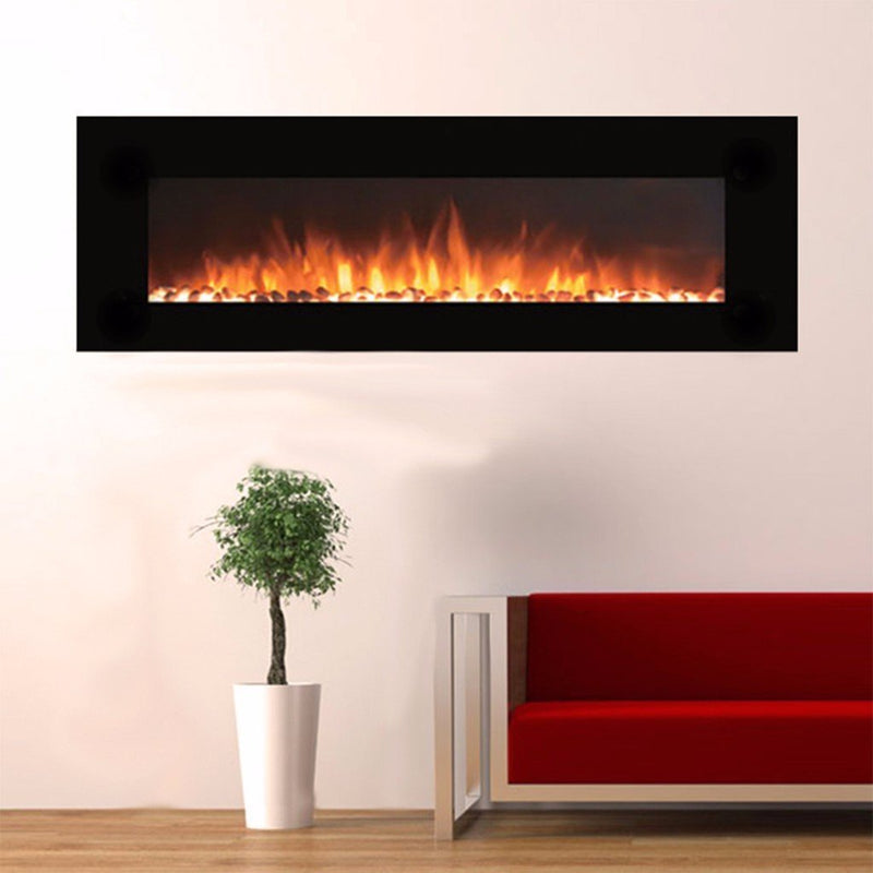 Touchstone Onyx Wall Mount 72 inch Electric Fireplace Black