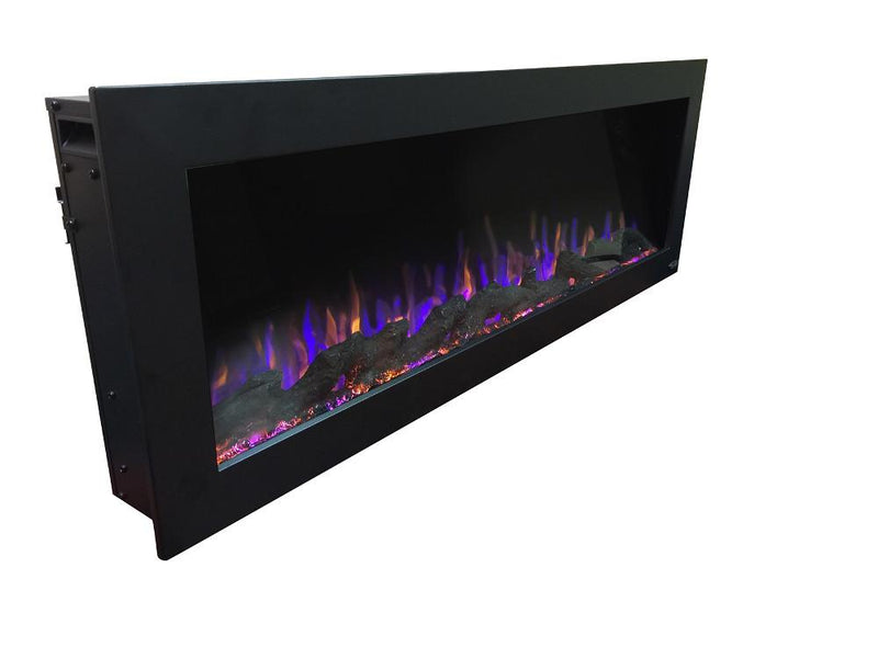 Touchstone Sideline Indoor Outdoor Wall Mount 50 Inch Electric Fireplace Black contemporary