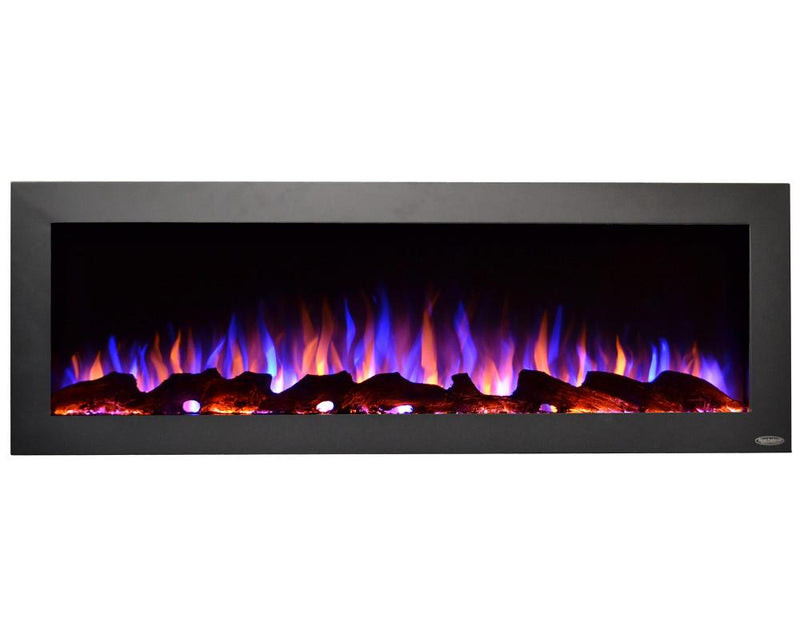 Touchstone Sideline Indoor Outdoor Wall Mount 50 Inch Electric Fireplace Black