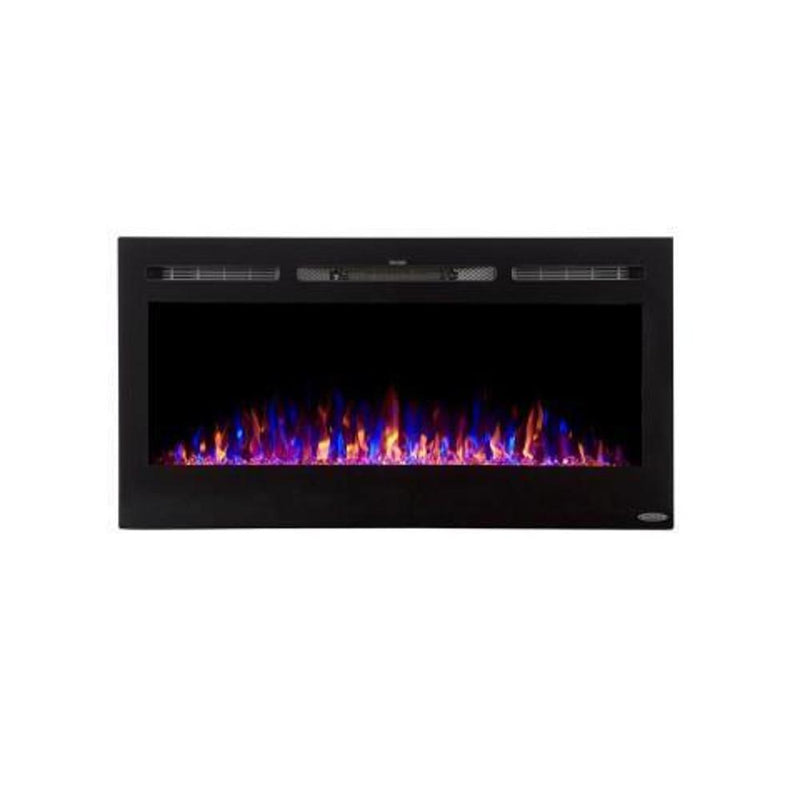 Touchstone Sideline Recessed 40 Inch Electric Fireplace Black tri color modern