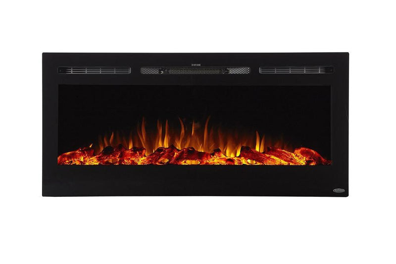 Touchstone Sideline Recessed 45 Inch Electric Fireplace Black Orange modern