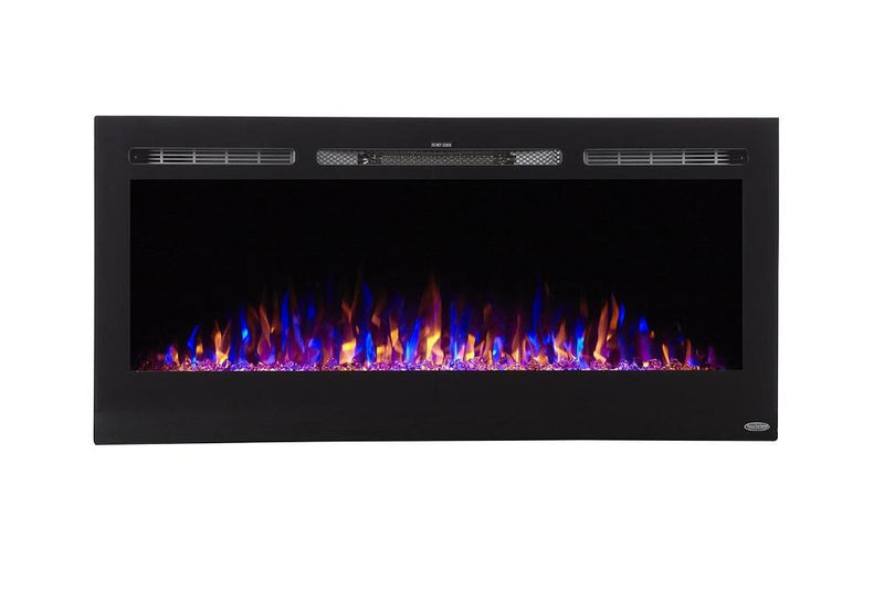 Touchstone Sideline Recessed 45 Inch Electric Fireplace Black contemporary