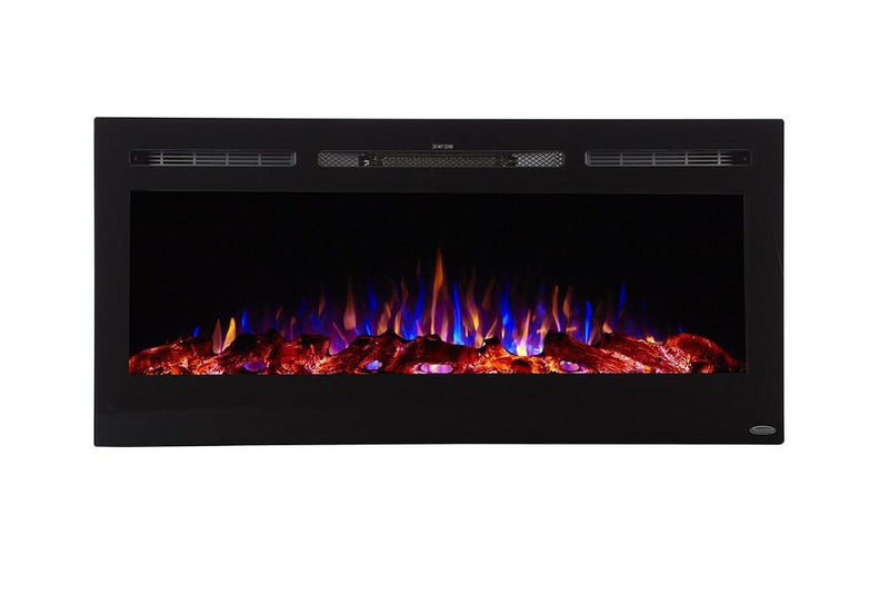 Touchstone Sideline Recessed 45 Inch Electric Fireplace Black modern
