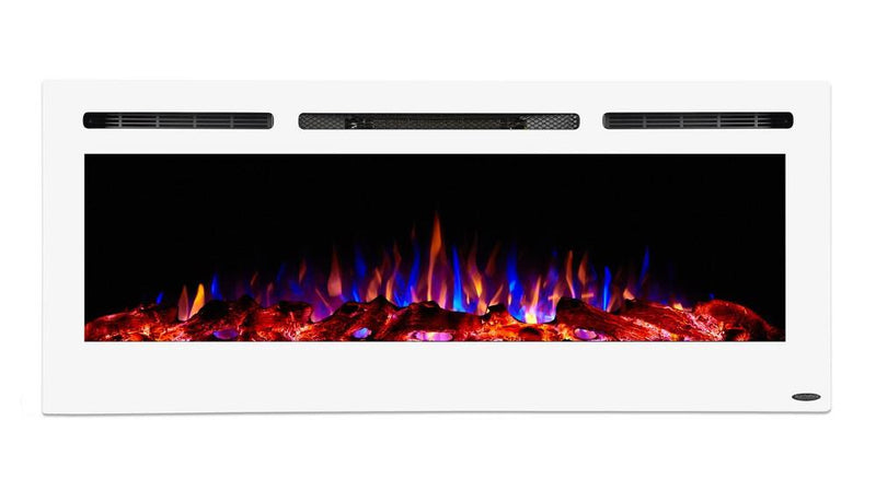 Touchstone Sideline Recessed 50 Inch Electric Fireplace White contemporary
