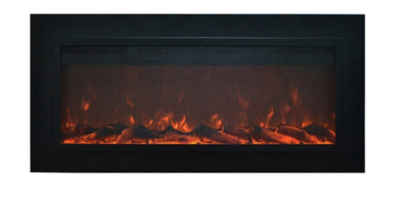Touchstone Sideline Recessed 50 inch Electric Fireplace Matte Steel realistic