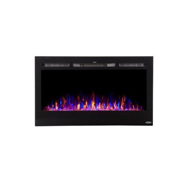 Touchstone Sideline Recessed 36 inch Electric Fireplace Black tri color 2