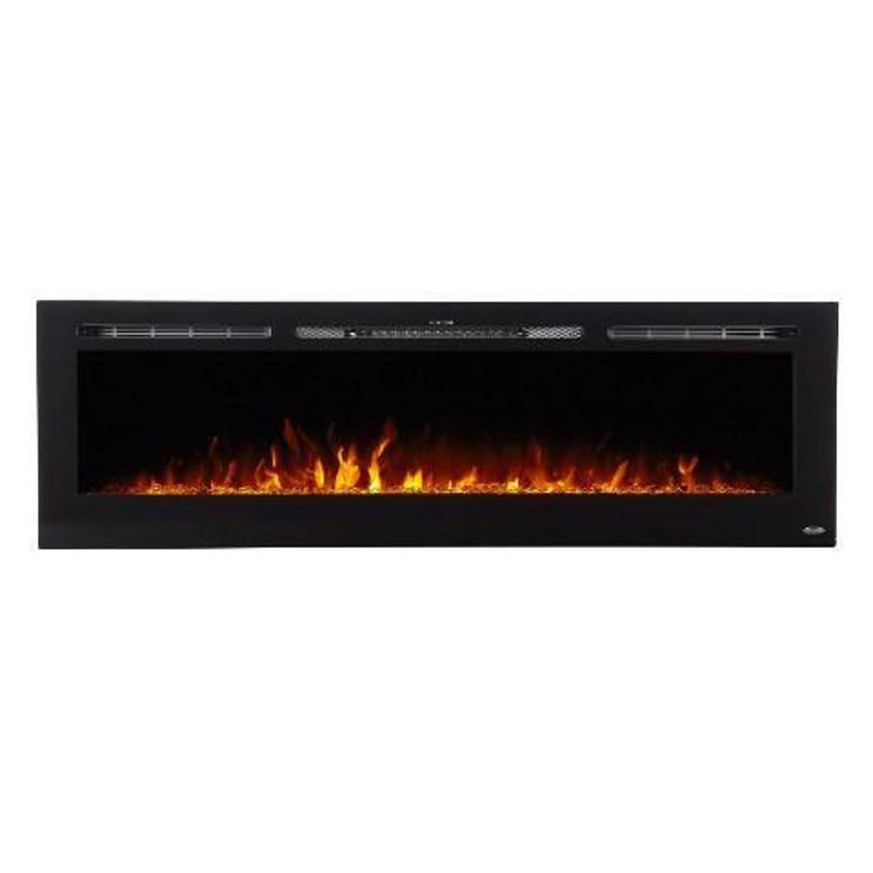 Touchtone Sideline Recessed 72 inch Electric Fireplace Black realistic modern