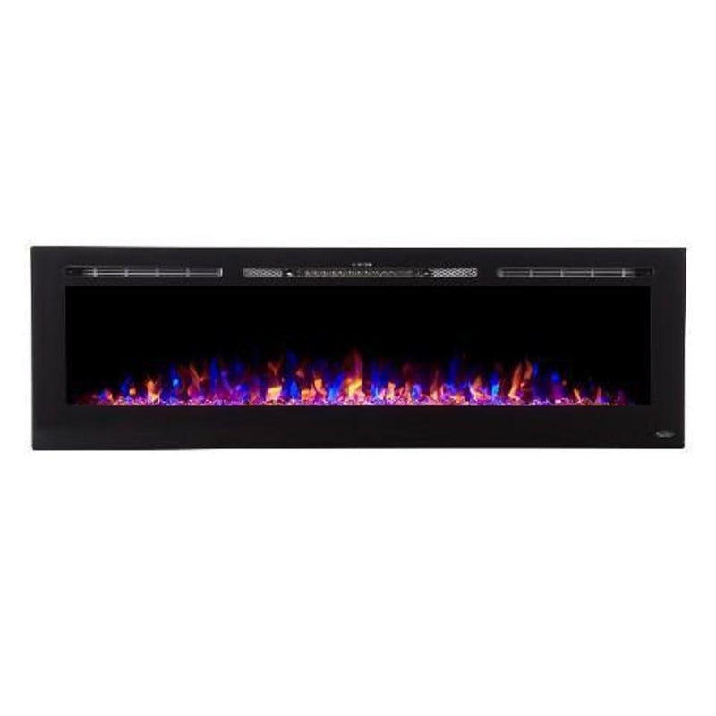 Touchtone Sideline Recessed 72 inch Electric Fireplace Black tri color modern