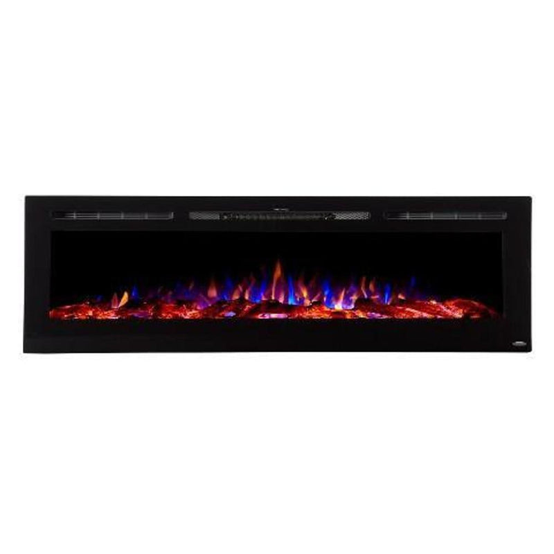 Touchtone Sideline Recessed 72 inch Electric Fireplace Black tri color