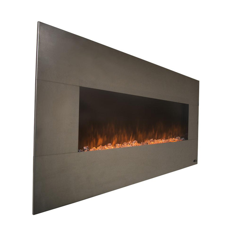 Touchstone Onyx Wall Mount 50 Inch Electric Fireplace Stainless realistic