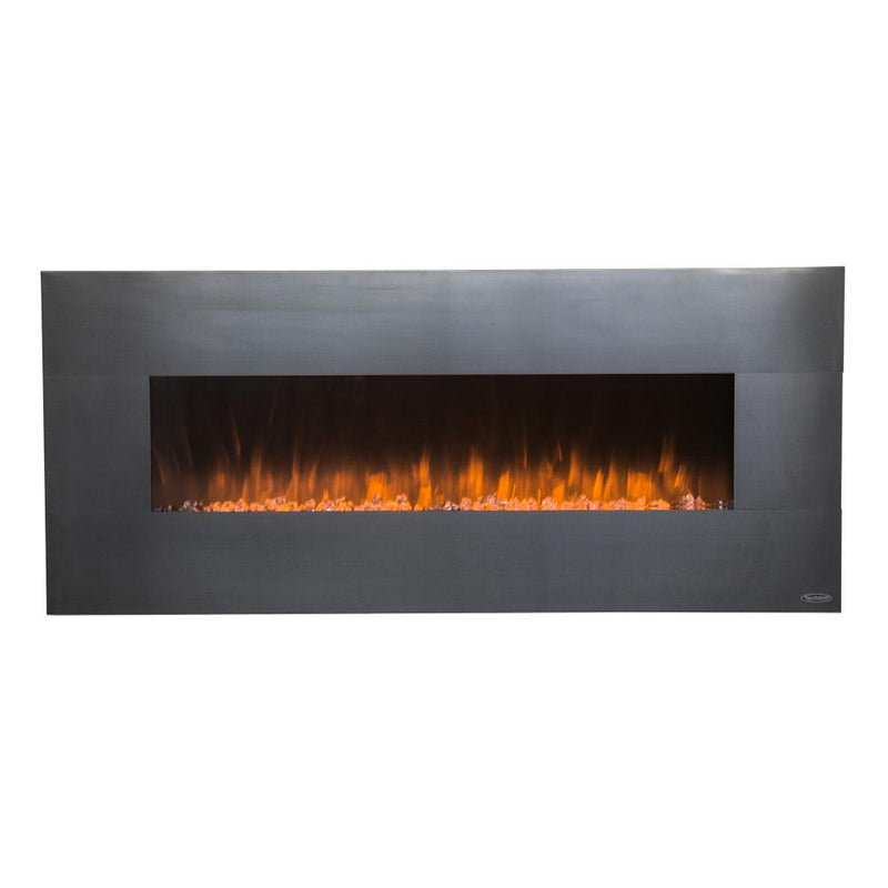 Touchstone Onyx Wall Mount 50 Inch Electric Fireplace Stainless