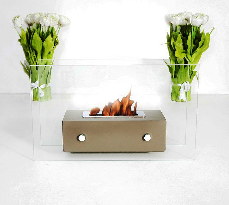 Bio-Blaze Table-top Bio-Ethanol Fireplace Valetta White BB-VAW