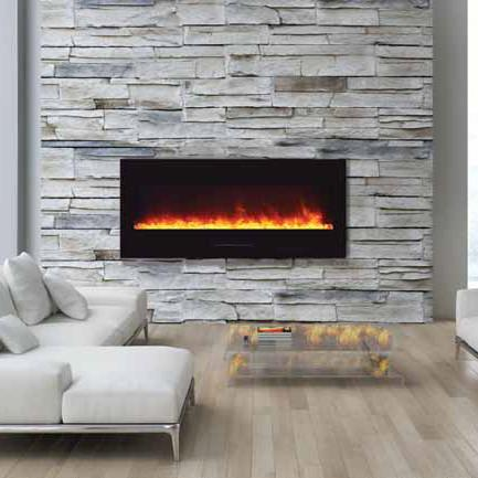 "Amantii 50"" Wall Mount Electric Fireplace WM-FM-50-BG"