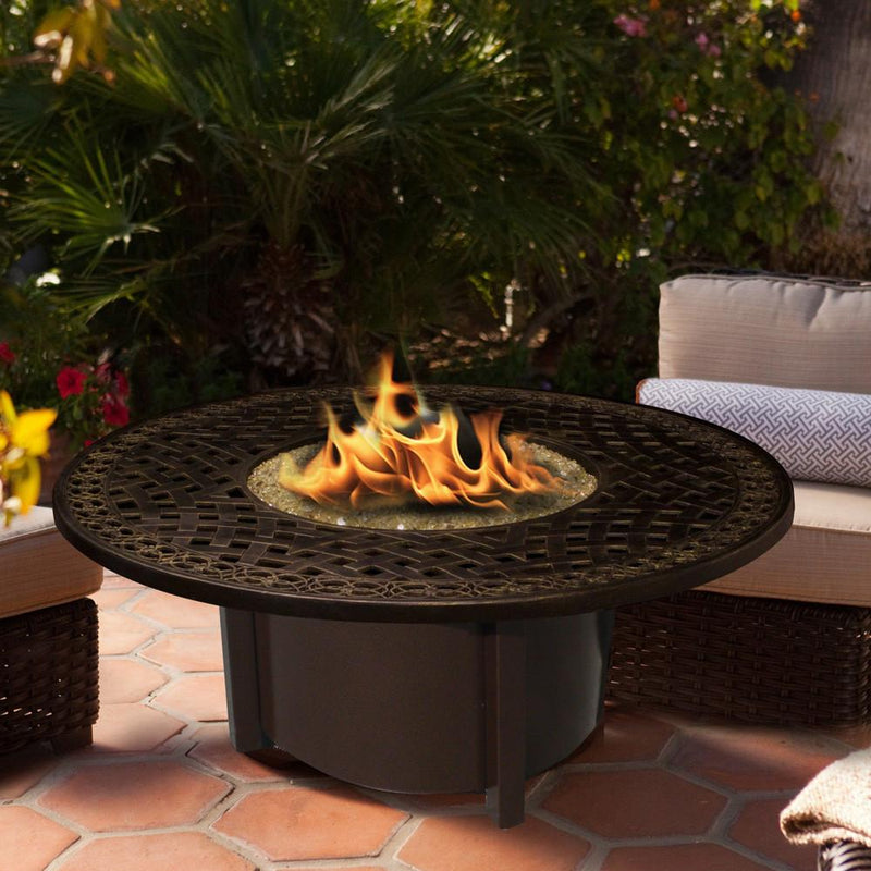 "Carmel Chat Height Round Fire Pit with 42"" Top"
