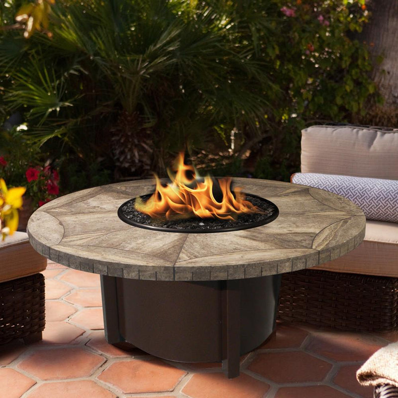 "Carmel Chat Height Round Fire Pit with 48"" Top"