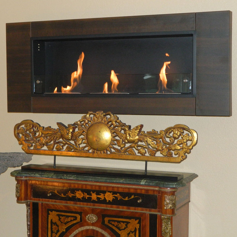 Nu-Flame Finestra Tres 3 Burner Dark Walnut Wall Mounted Fireplace