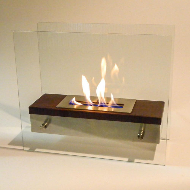 Nu-Flame Foreste Ardore Tabletop Dark Walnut Wood Finish Fireplace