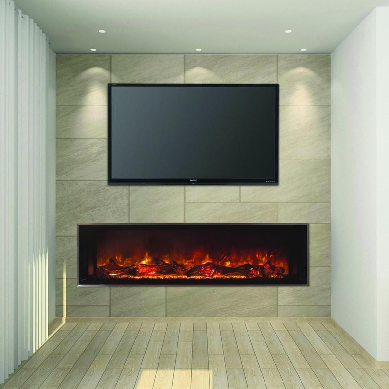 Modern Flames Landscape FullView 60 inch Built In Recessed Flush Mount Electric Fireplace Living2