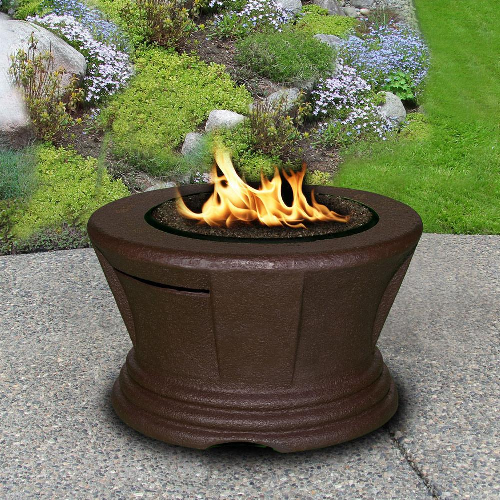 San Simeon Chat Height Round Fire Pit