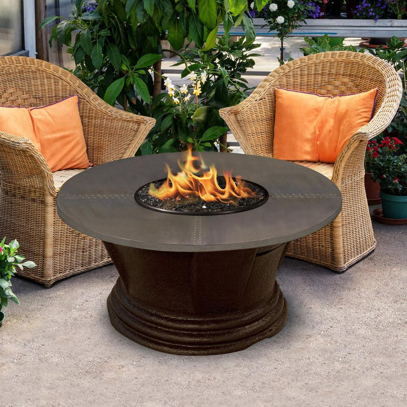 "San Simeon Chat Height 48"" Round Fire Pit"