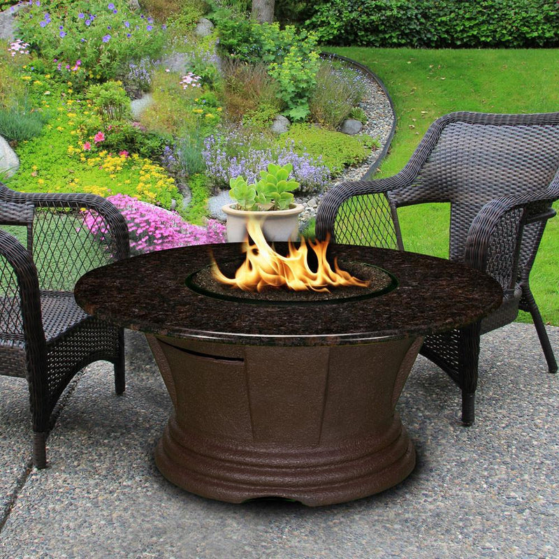"San Simeon Chat Height 42"" Round Fire Pit"