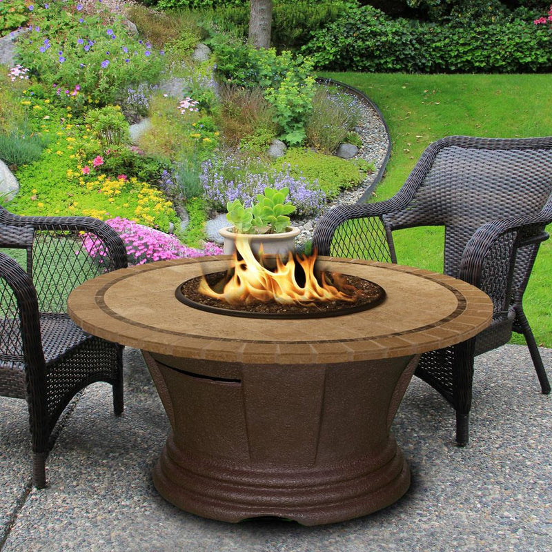 San Simeon Chat Height 48 in Round Fire Pit