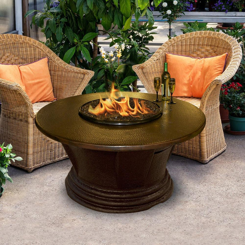 San Simeon Chat Height 48 inch Round Fire Pit