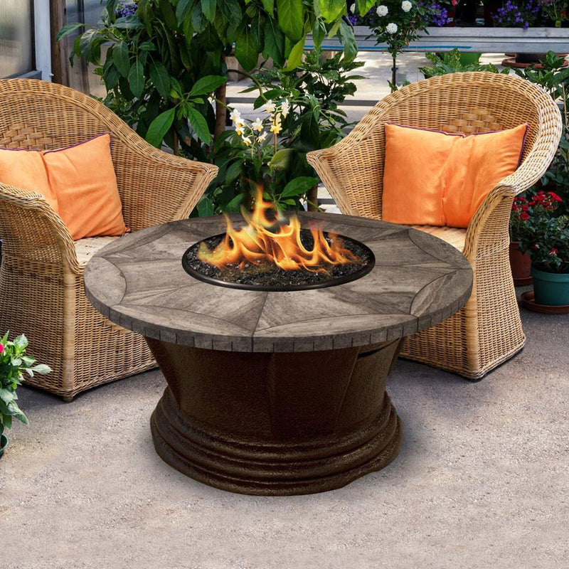 San Simeon Chat Height 42 in Round Fire Pit