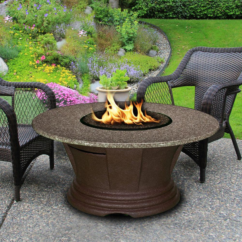 San Simeon Chat Height 42 in Round FirePit