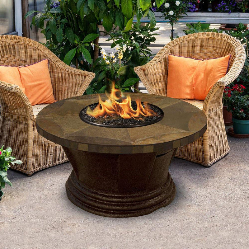 San Simeon Chat Height Round 48 inch Fire Pit