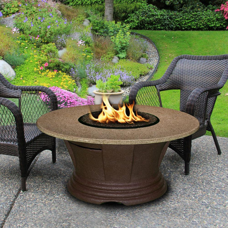 "San Simeon Chat Height 42"" Round FirePit"