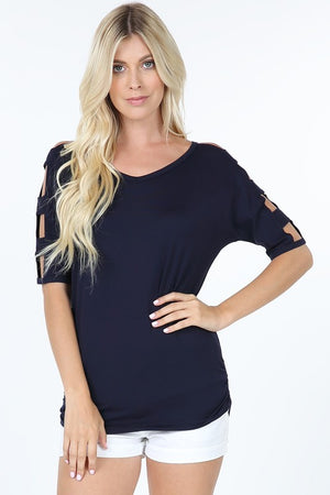 Step It Up Top - Navy