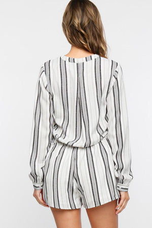 Stripe It Down Romper