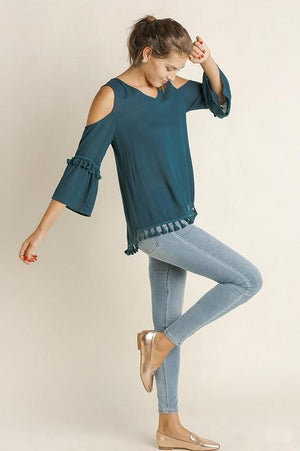 Tassles in Teal Top