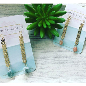 Find Your Way Earrings - Blue