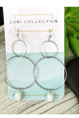 Circles & Pearls Earrings