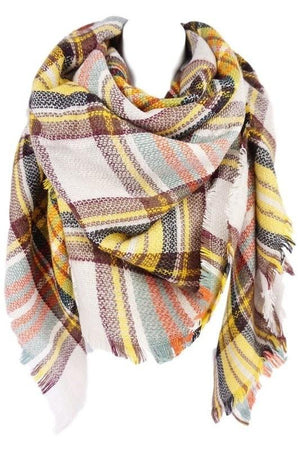 Blanket Scarf - Gray Plaid