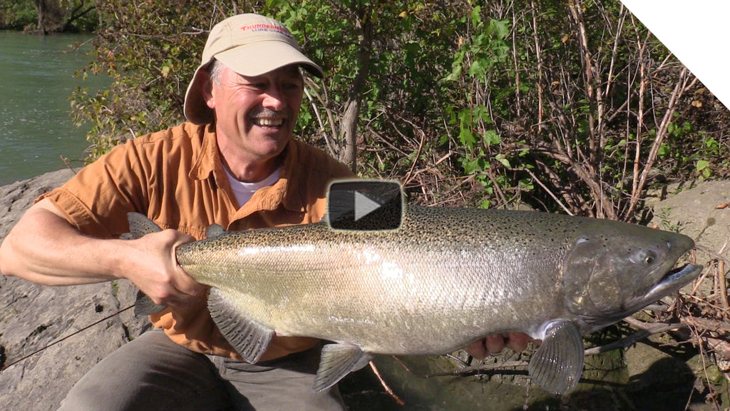Niagara River Salmon - Shore Fishing with the Stingeye Spinner