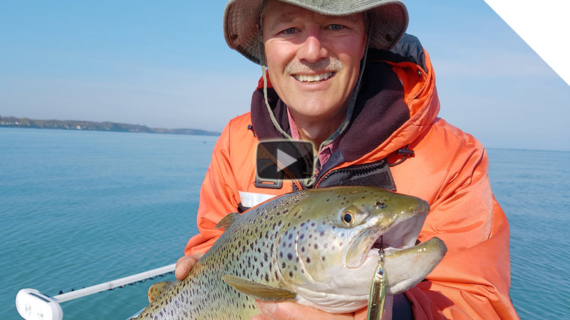 New Gold Stingnose Jigging for Brown Trout and Lake Trout