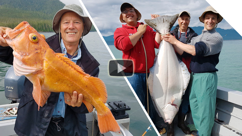 Alaska Yelloweye Rockfish, Cod and Halibut - One of the best days fishing, ever (45-Minute Special!)