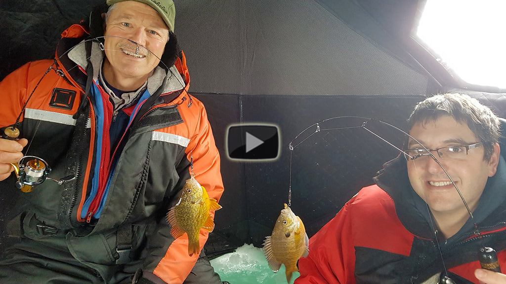 Ice Fishing for Sunfish and Perch | Jigging for Panfish Through the Ice