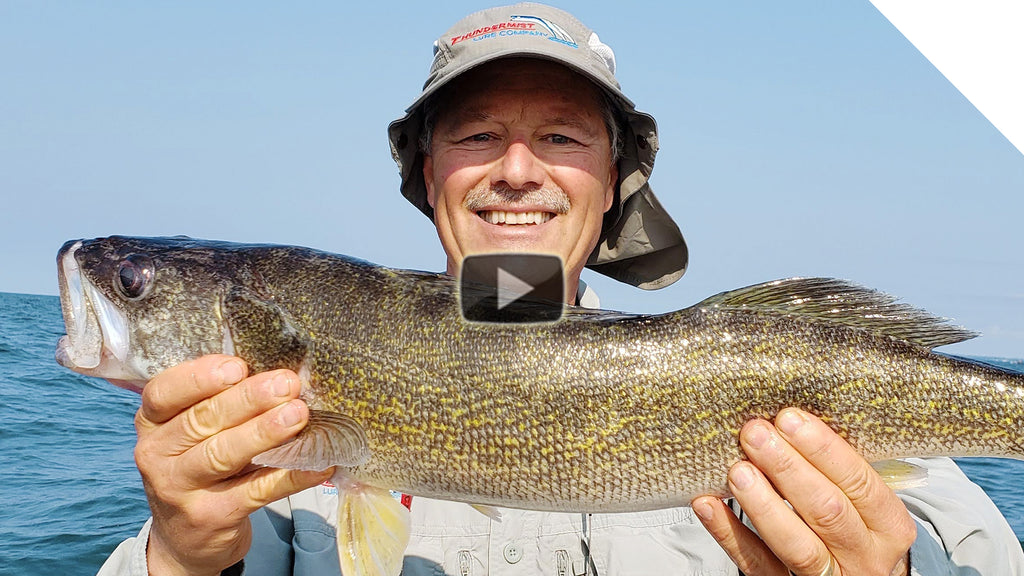 Jigging spoon walleye with the stingnose peanut bunker