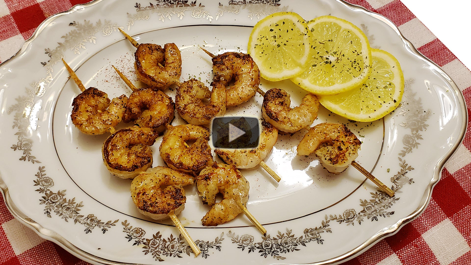 Blackened Shrimp Appetizers