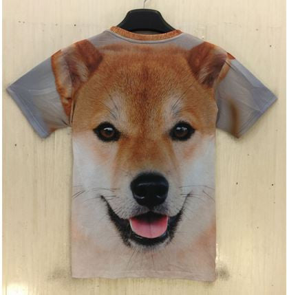 Dog Pattern Print 3D T Shirt