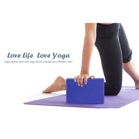 Pilates EVA Yoga Block Gym Foam Workout Stretching Aid / Body Shaping (7 colors) FREE SHIPPING