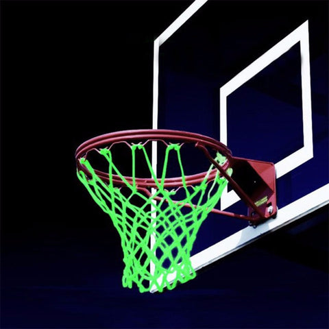 New Glowing  Green Luminous Mesh Nylon Standard Basketball Hoop Net