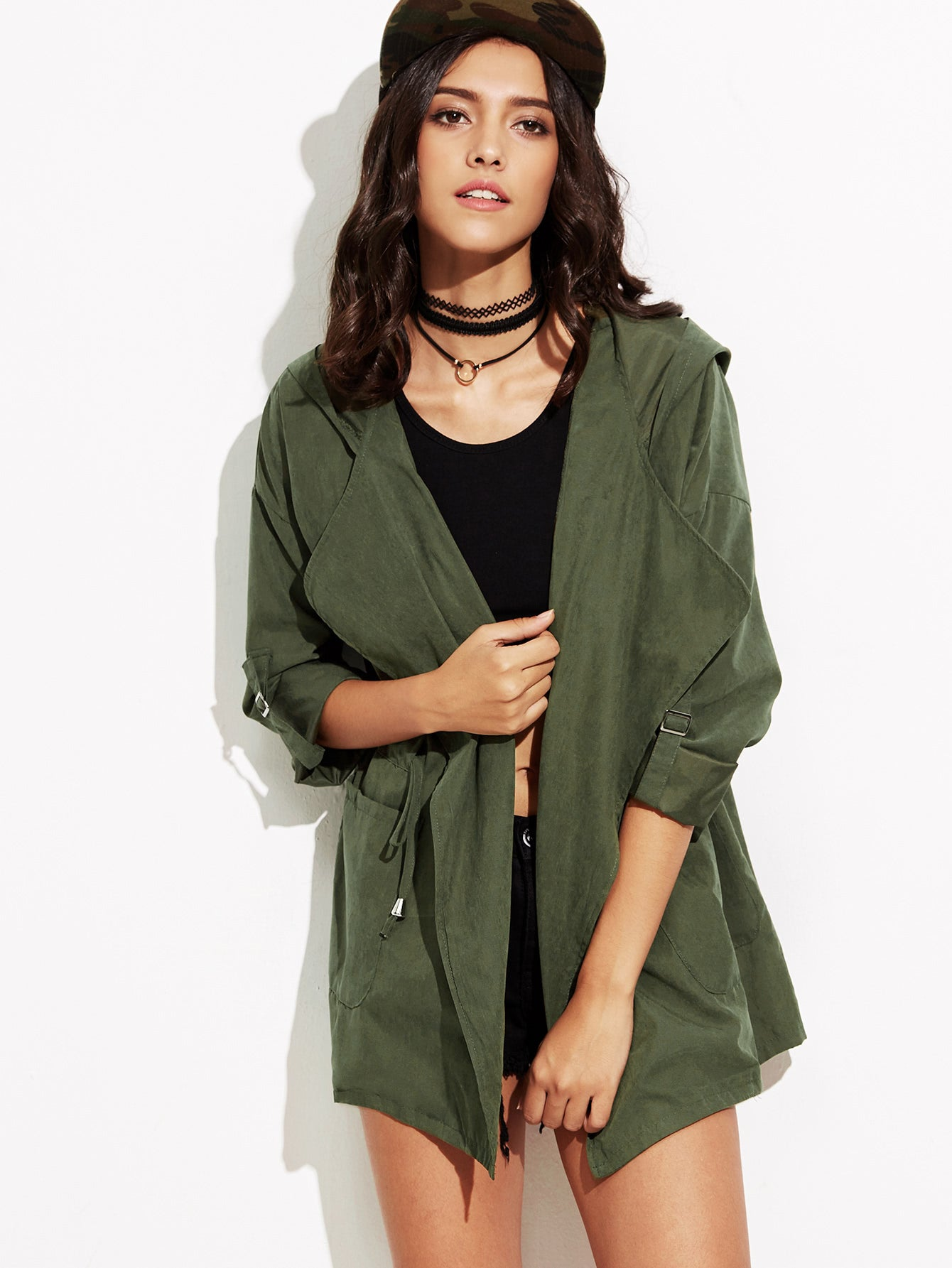 LIGHT HOODED COAT