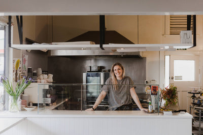 Kate Marinkovich - Mother of 1, owner and baker at Tomboy, friend of CAUGHLEY